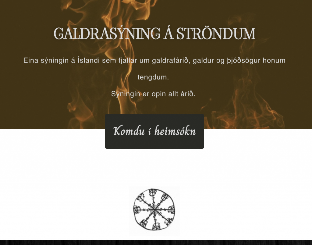 Galdrasýning vefsíða